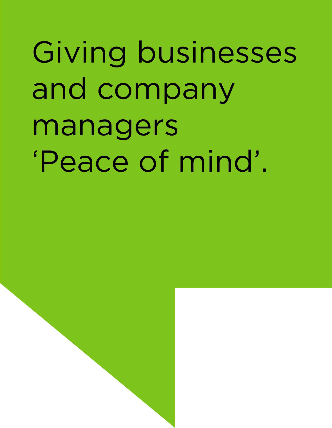 Giving Business Peace of Mind
